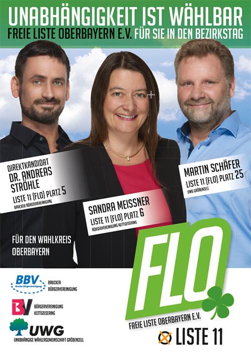 FLO Kandidaten Bezirkstagswahl 2018